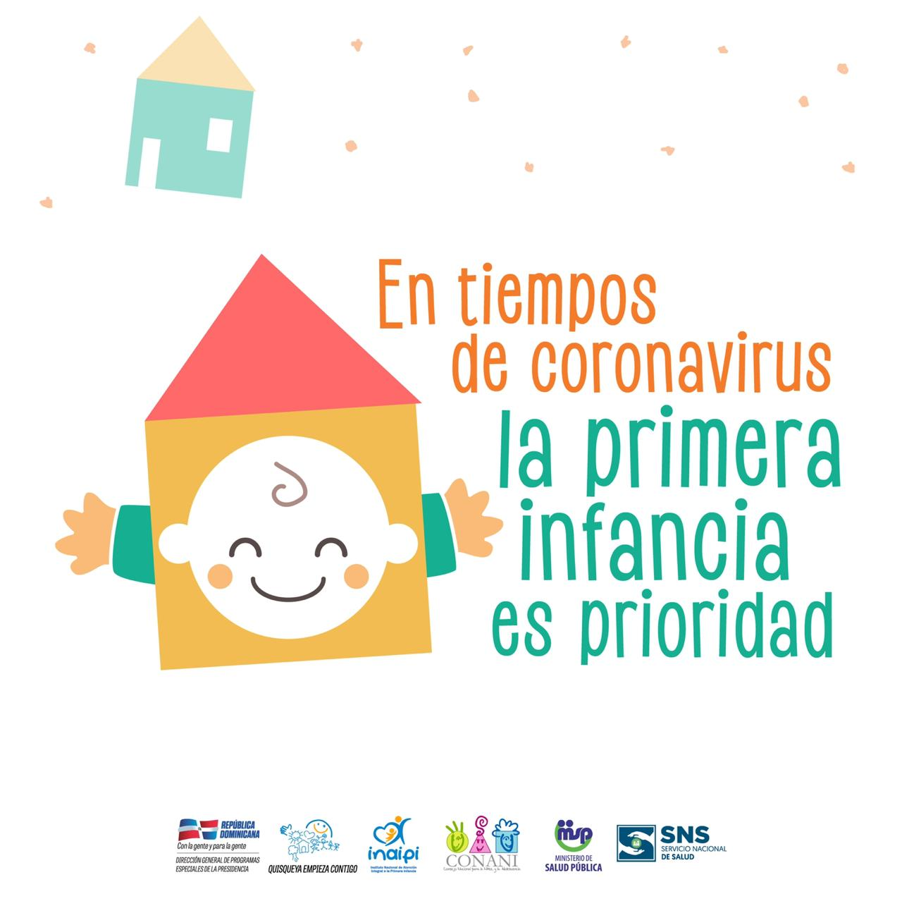 """Instituciones lanzan campaña """"En Tiempos de Coronavirus, la Primera Infancia es Prioridad"""""""